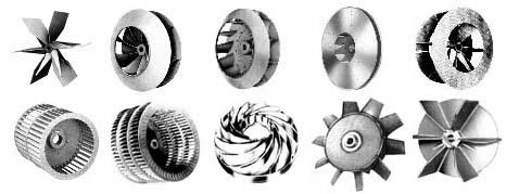 Fan blower wheels